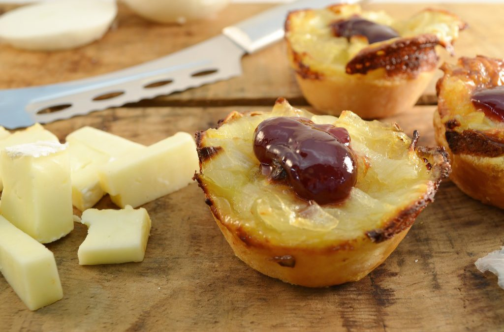 Onion Tortes Recipe | Cheese Tortes with Caramelized Onions
