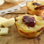 Sophisticated onion tortes with the Rada Cutlery Cheese Knife.