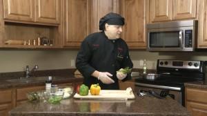 Chef Ted preparing asparagus