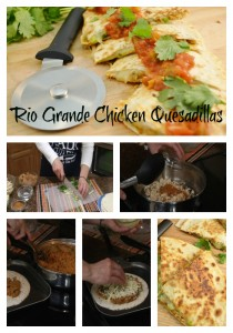 Steps for making chicken quesadila recipe.
