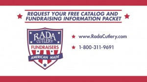 Contact information for request the Rada Cutlery fundraising catalog and other fundraiser materials.