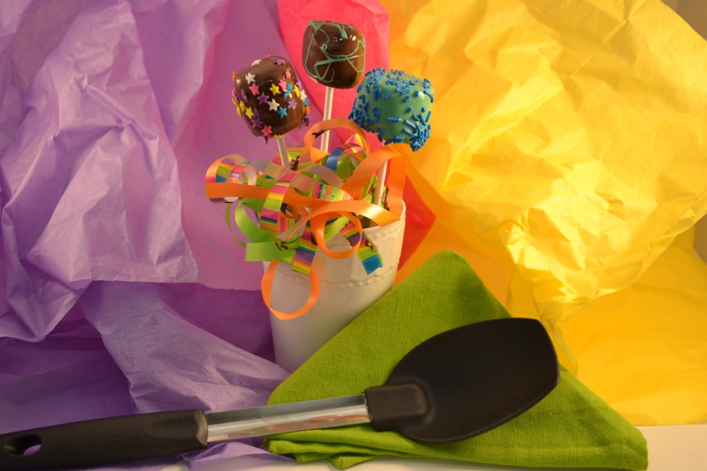 Marshmallow Pops with the Rada Non-Scratch Spoon.