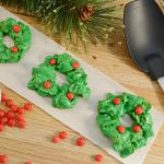 Delicious marshmallow wreaths with the Rada Non-Scratch Spoon.