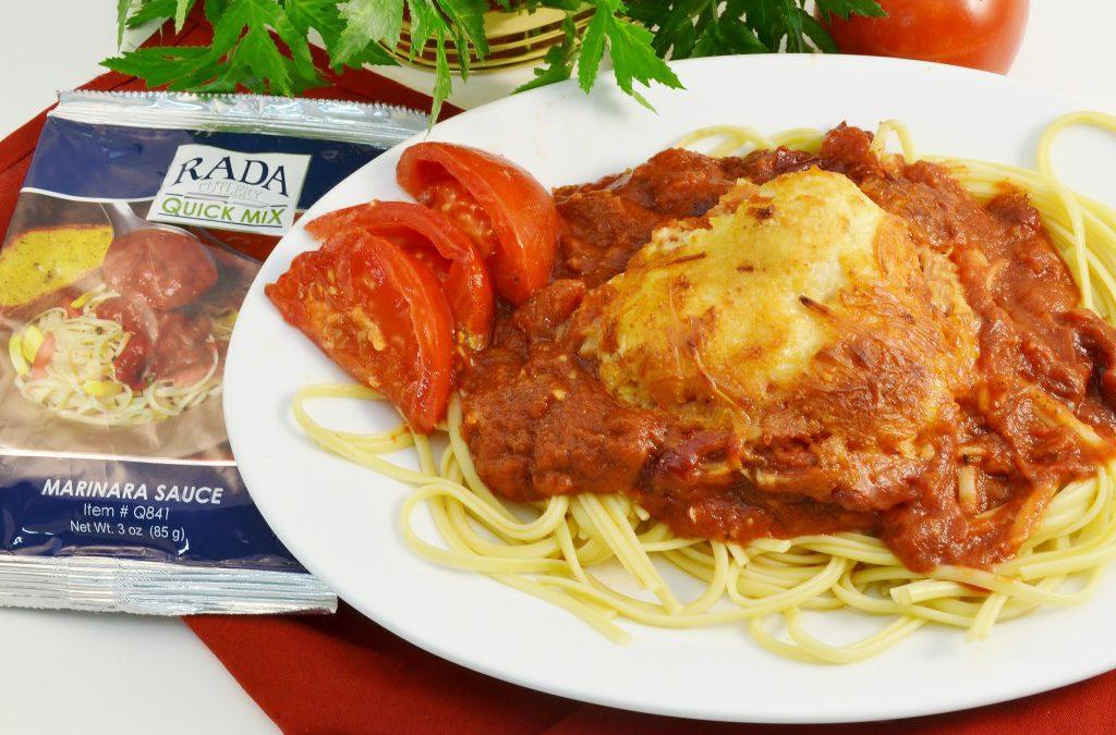 Cheesy Baked Chicken Recipe | Italian Chicken Dish with Linguine Pasta