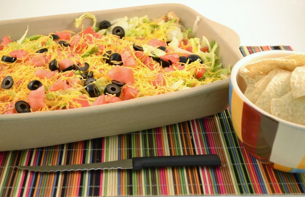 Low Calorie Taco Dip Recipe | Amazing Skinny Fiesta Tortilla Chip Dip