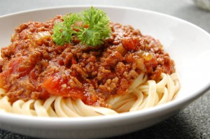 Spaghetti with Meat Sauce is an Italian favorite!