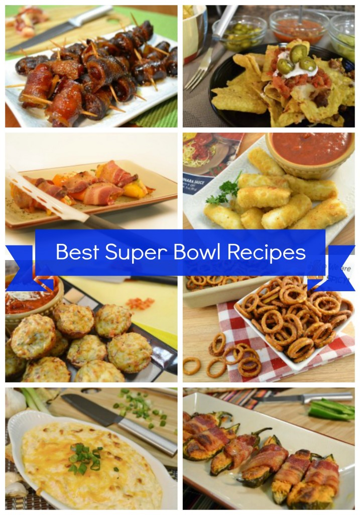 Super Bowl Appetizer Recipes Collage