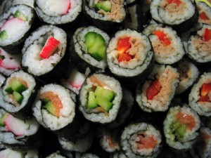 Delicious sushi is a now a favorite in America!