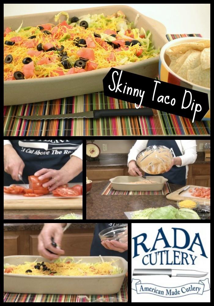 Taco Dip Collage