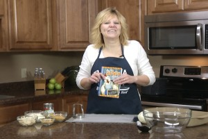 Kristy with Are You Chicken recipe book.