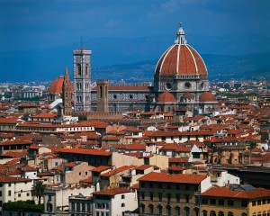 A photo of the Florence, Italy skyline.