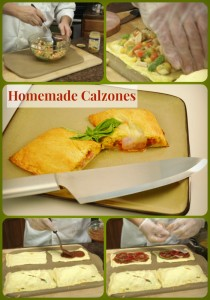 Homemade Calzones Recipe Collage