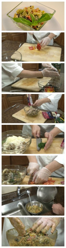Pesto Pasta Salad Collage