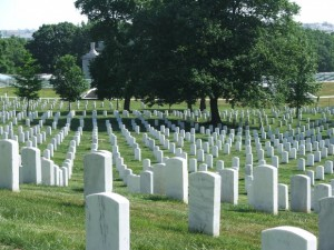 Arlington National Cemetery during the day.