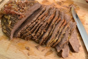 A BBQ Beef Brisket and the Rada Carver/Boner.