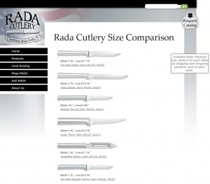 The Rada Knife Comparison Chart helps you pick out the perfect product!