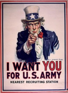 The most famous image of Uncle Sam.