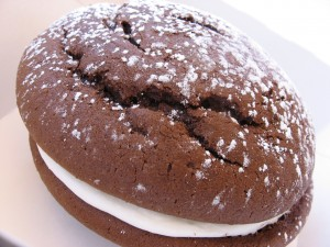 A delicious whoopie pie.