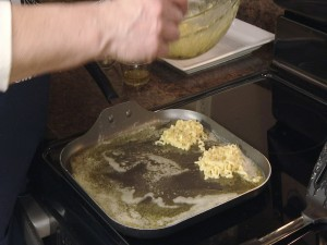 Kristy cooks ramen noodles.