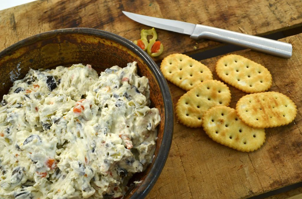 Olive Dip Recipe | Cream Cheese and Olive Cracker Dip Recipe