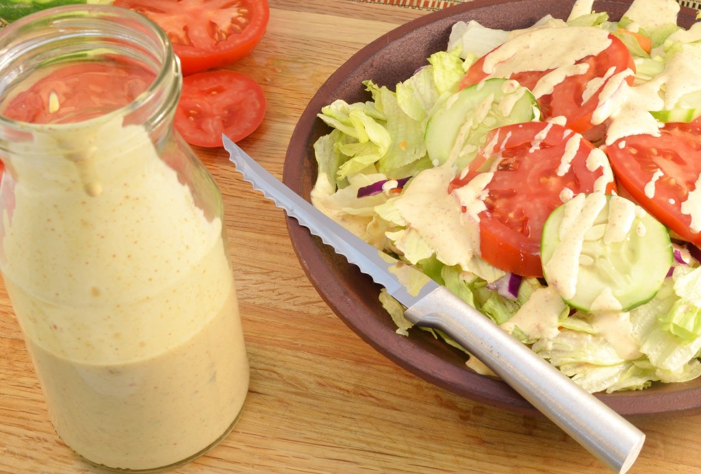 Delicious chipotle dressing with a Rada Tomato Slicer.