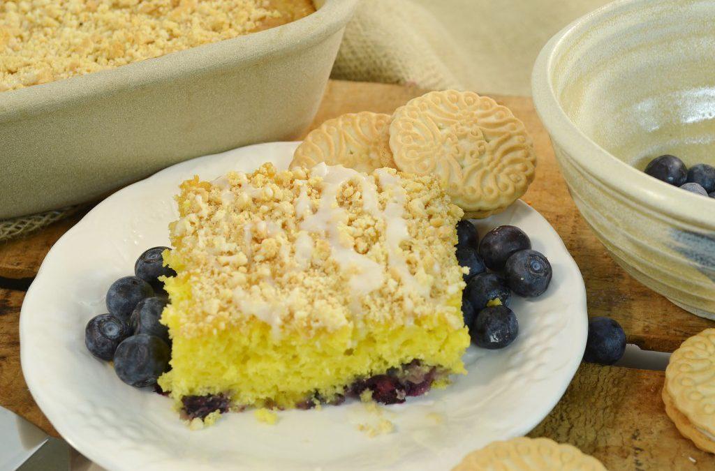 Lemon Blueberry Dump Cake Recipe | Easy Coffee Cake