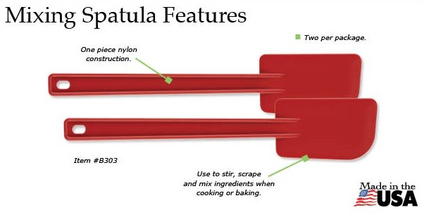 The Rada Mixing Spatula is great for cooking or baking!