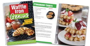 The Waffle Iron Genius cookbook is brimming with tasty recipes you make with your waffle iron!