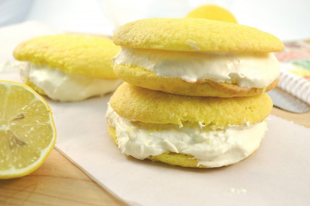 A batch of delicious lemon whoopies.