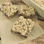 Delicious oatmeal fudge bars made in a Rada Rectangular Baker.