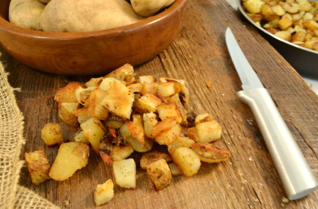 Pan Fried Potatoes Recipe | How to Fry Potatoes Directions