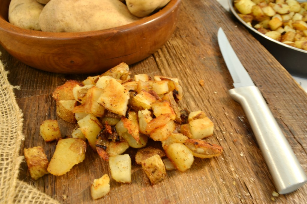 Pan Fried Potatoes with a Rada Super Parer.