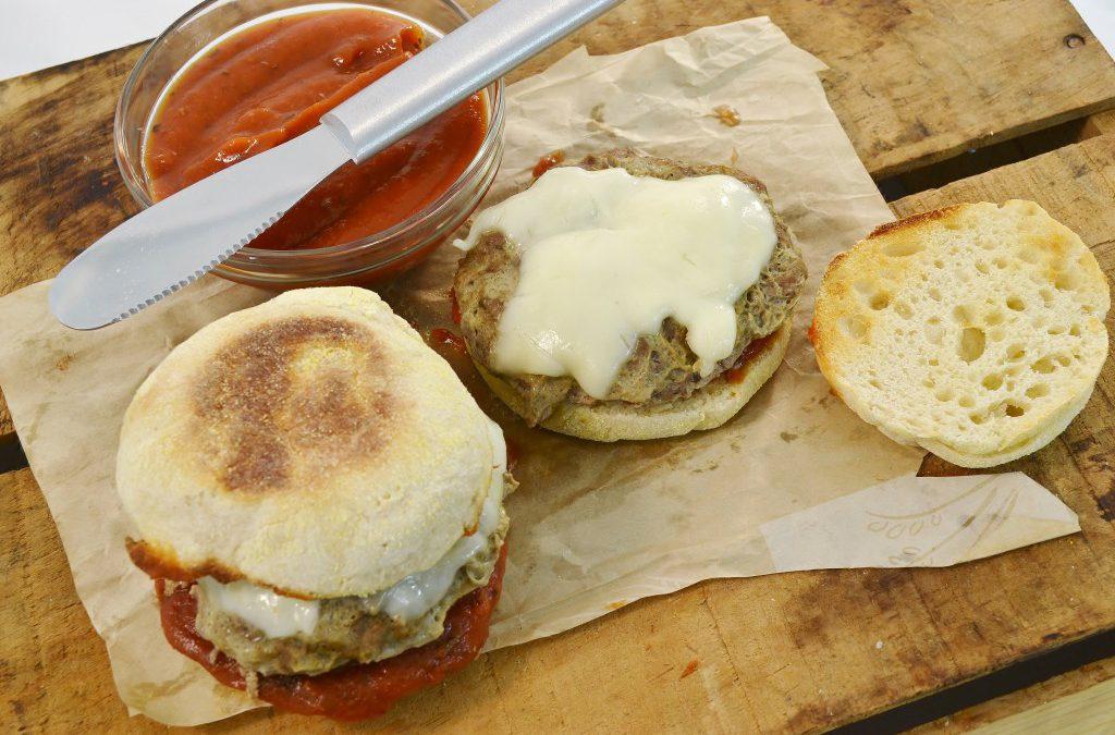 Pizza Burger Pouch Recipe | Homemade Pizza Burger Recipe