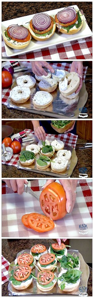 Broiled Tomato Bagels