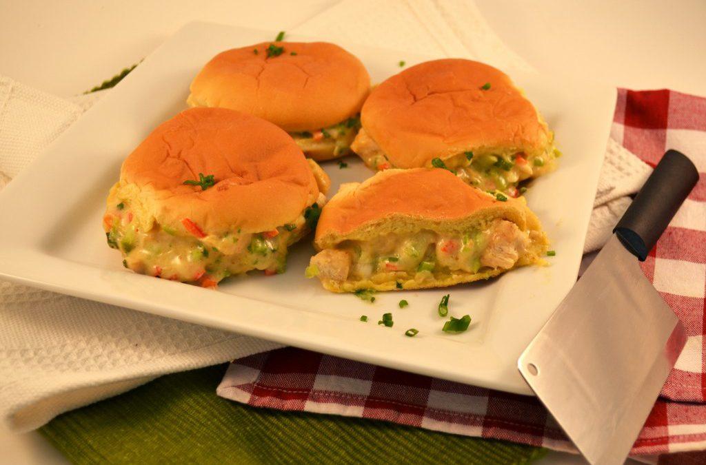 Tasty Chicken Swiss Melt Sandwiches with the Rada Chef's Dicer.