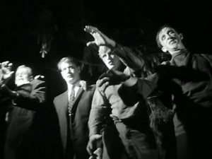 "An army of zombies in ""Night of the Living Dead""."