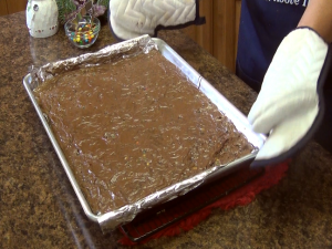 Christmas Tree Brownies step 7