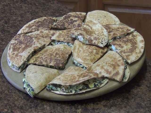 Spinach & Artichoke Quesadillas with Shrimp Recipe | Healthy Quesadilla