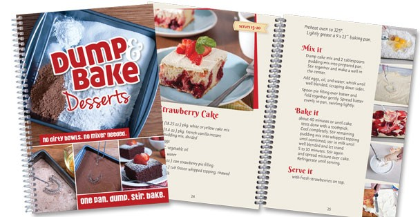 The Dump & Bake Desserts cookbook has tons of great dump cakes!