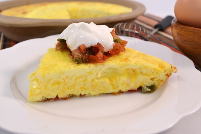 A delicious Mexican Omelet made with a Rada Handi-Stir.