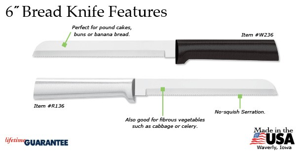 "The amazing Rada 6"" Bread Knife has many appealing features."