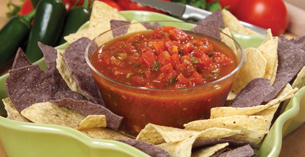 A dish of Rada's delicious Salsa Quick Mix.