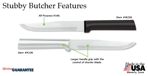The Rada Stubby Butcher Knife has many features that make it a must-have.