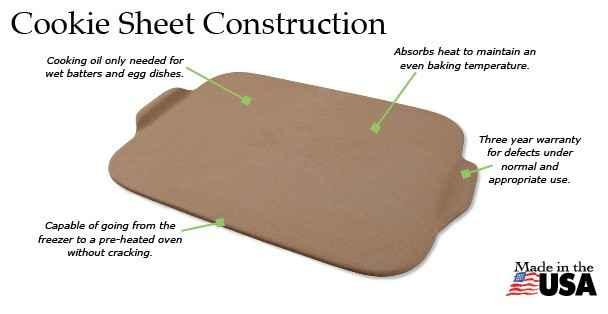 The Rada Cookie Sheet stoneware.