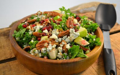 Pomegranate Fruit Salad | Healthy Fruit and Pecan Salad