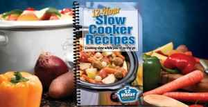The wonderful 12-Hour Slow Cooker Recipes cookbook.