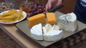 A tray of cheese.