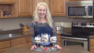 Jess poses with completed trifle.