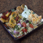 A delicious Mediterranean Meal prepared with Rada Cutlery products.