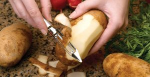 The Rada Vegetable Peeler effortlessly and safely peels fruits, vegetables, and more!